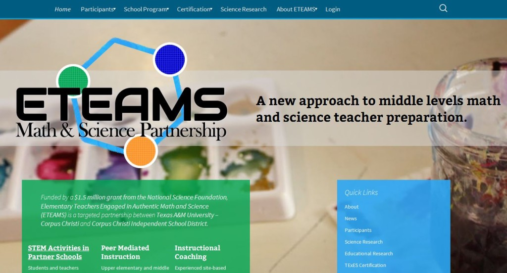 ETEAMS Homepage, Feb 6, 2014