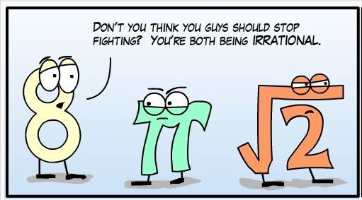 irrational numbers cartoon