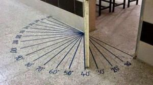Protractor on Floor